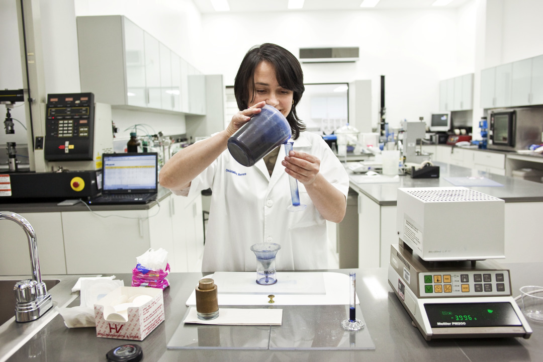 Working woman in lab